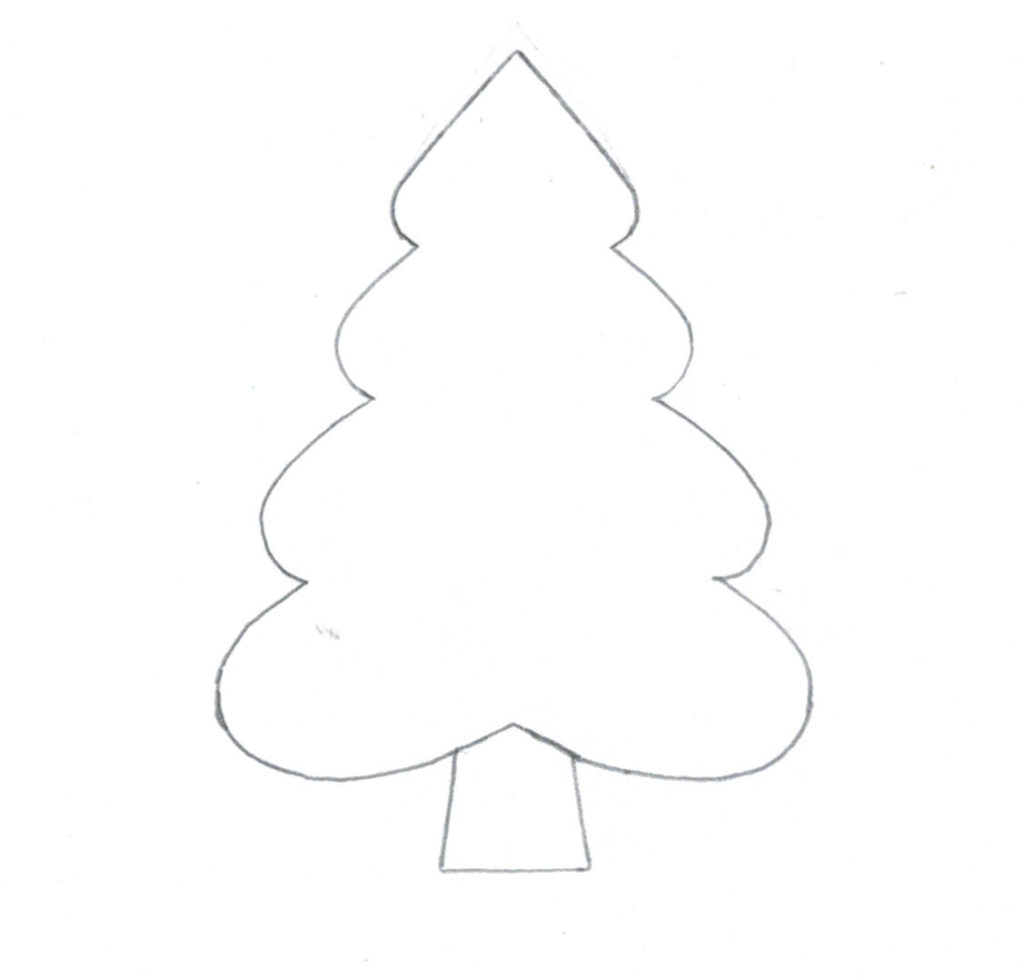 Embroidery Pattern : Christmas tree / Patron de broderie : Sapin